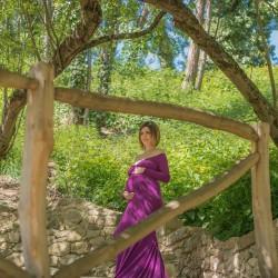 Création robe Bellatrix shooting grossesse
