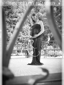 Robe-dentelle-noire shooting grossesse