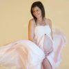Robe trapèze rose pale grossesse