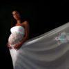 Robe tube dentelle grossesse
