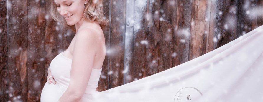 Robe romantique trapèze shooting grossesse