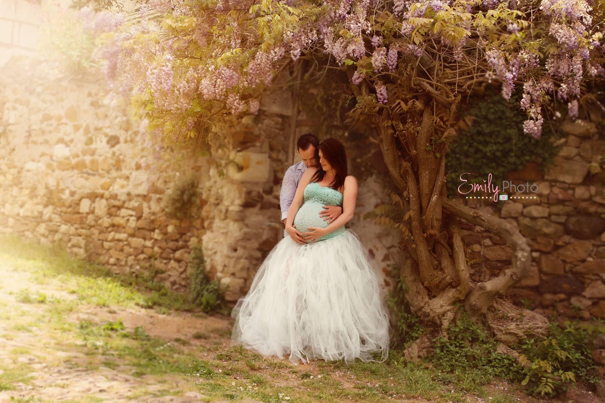 Ensemble Jupon et haut dentelle spécial séance photo grossesse