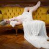 Création robe bustier dentelle modèle Céline shooting grossesse