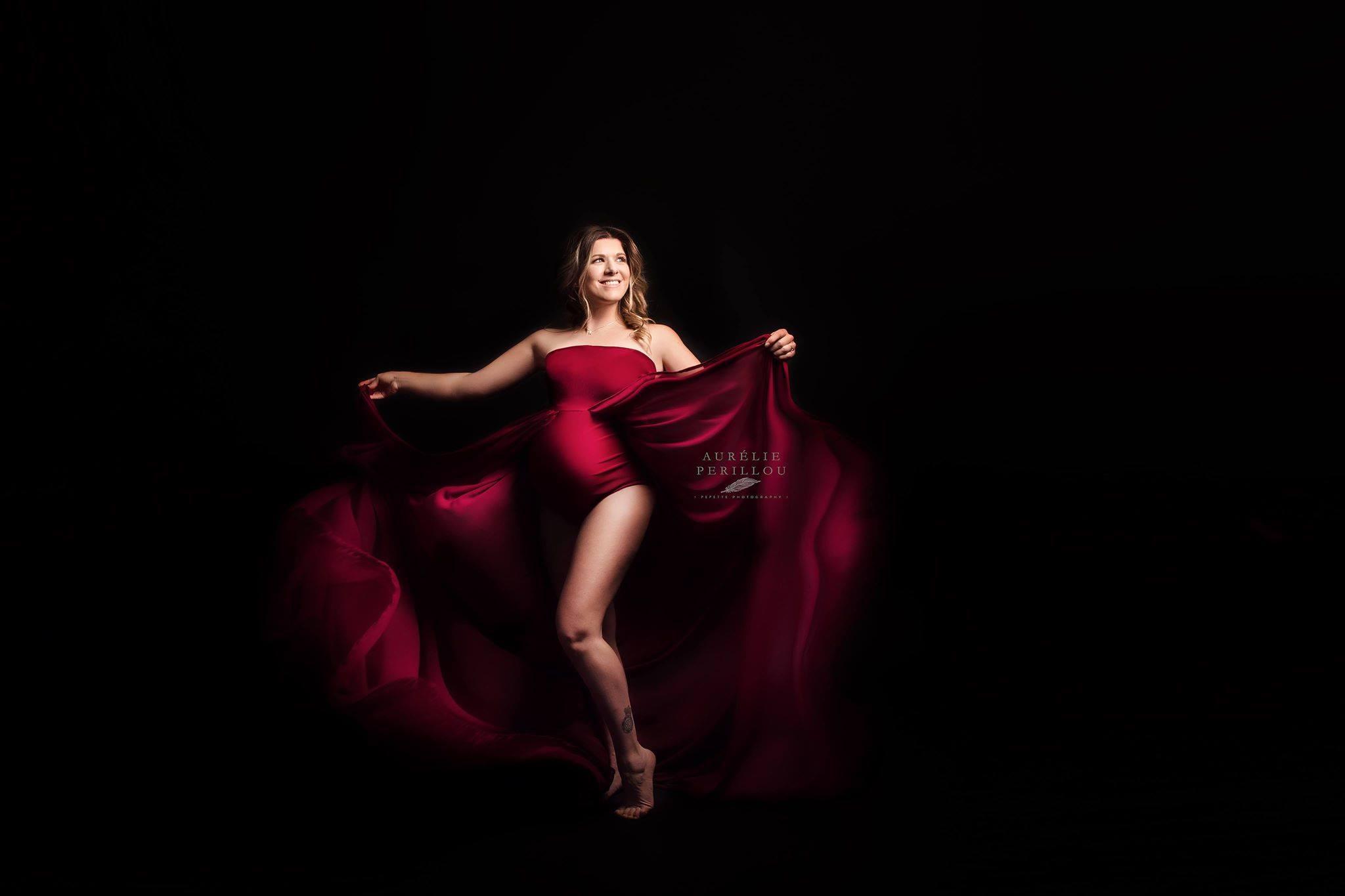 Création robe bodysuit Tulipe for fine art photographies