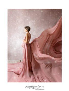 robe vieuxrose angélique mousseline soie